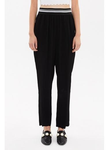 Societa Beli Büzgülü Pantalon 41360 Siyah